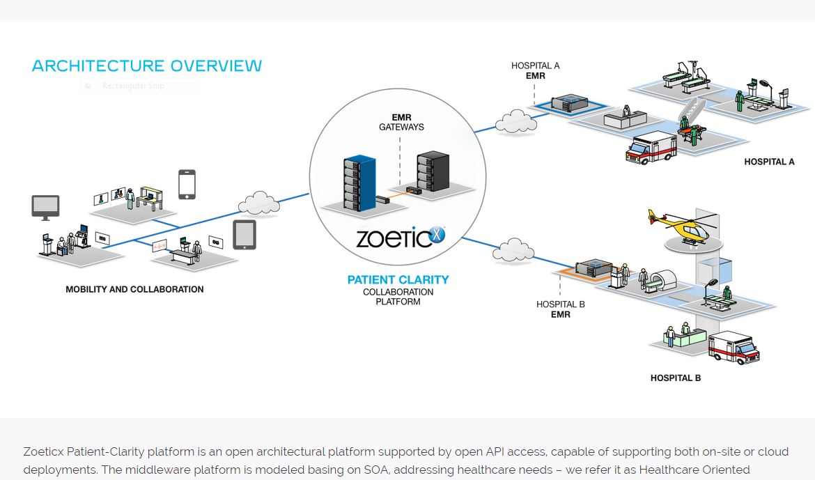 Zoeticx challenges lack of interoperability with open middleware its health oriented architecture hoa leverages it advancements from vertical market platforms including system oriented architecture soa ccuart Choice Image